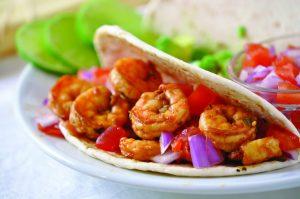 easy shrimp tacos, BBQ Shrimp Tacos