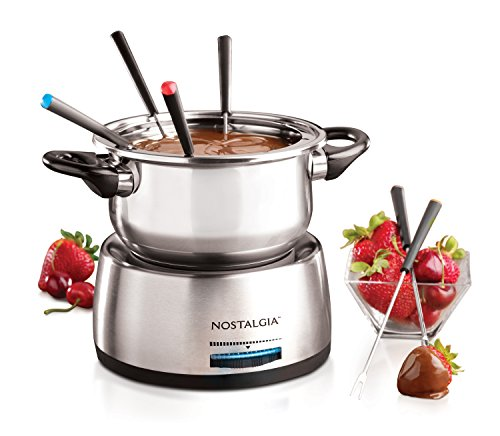 6-Cup Stainless Steel Electric Fondue Pot