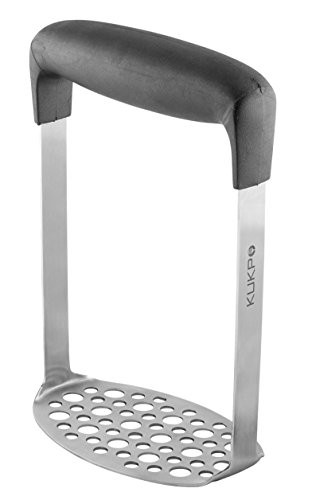 KUKPO Stainless Steel Potato Masher with Broad and Ergonomic Horizontal Handle
