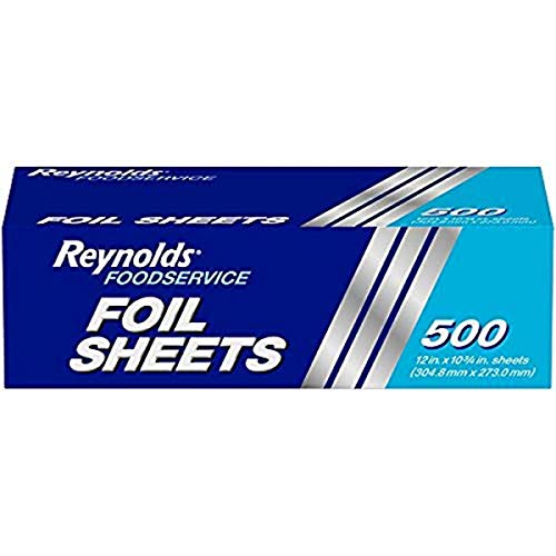 Reynolds Aluminum Foil Sheets - 12 x 10.75 Inches, 500 Sheets