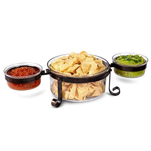 Chip and Dip Serving Bowl Set