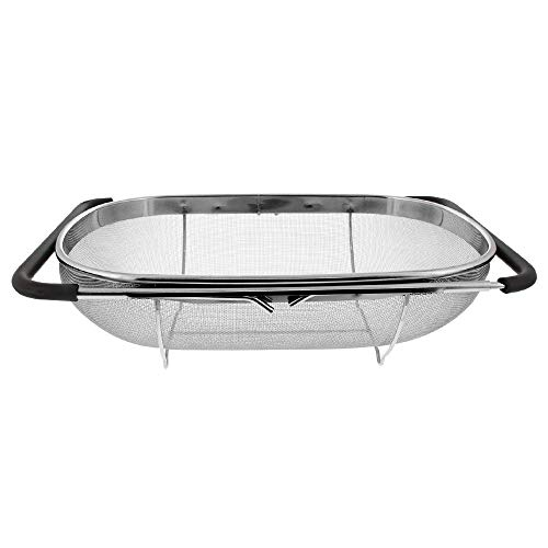 Over the Sink Colander Strainer Basket Stainless Steel