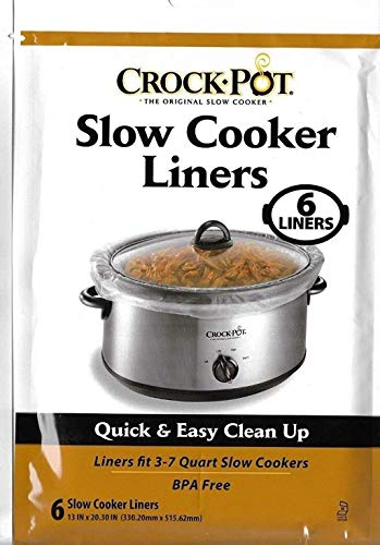 Crock Pot Liners, 30 Liners fit 3-7 Quart (5 packs of 6 count)