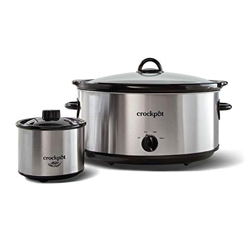 Crock-Pot 8 Quart Manual Slow Cooker with 16 Oz Little Dipper