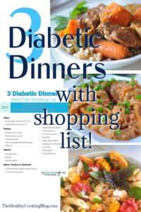 3 Diabetic Dinners Grocery Shopping List