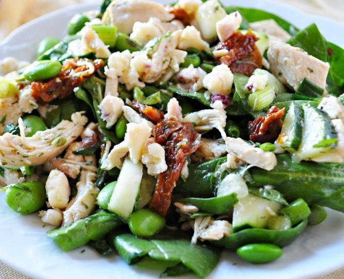 Mediterranean Chicken Salad Recipe With Chicken Chic Ingredients