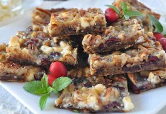Cranberry White Chocolate Bars
