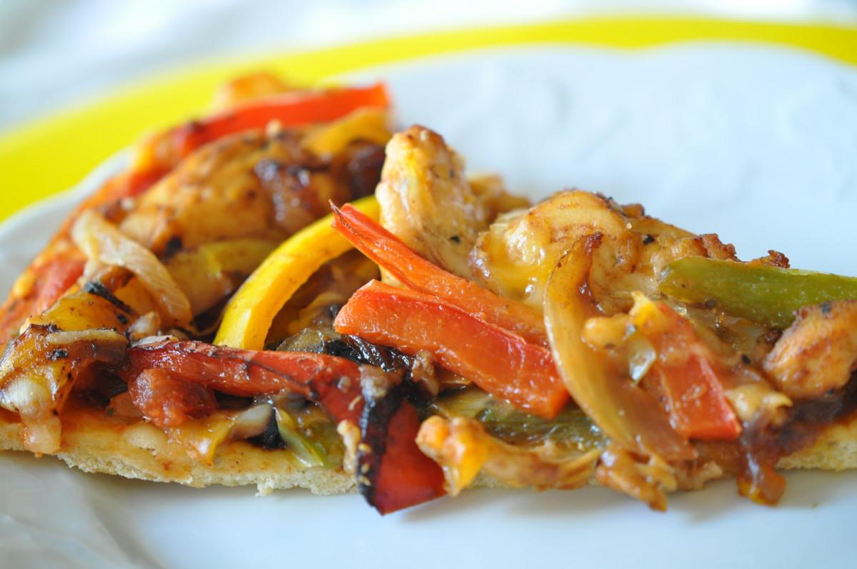 Chicken Fajita Pizza Recipe Easy Delicious Diabetic Chicken Pizza