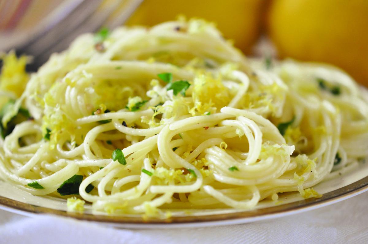Lemon Angel Hair Pasta Lemon Flavor Helps With Nausea And Taste Buds